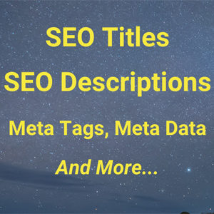 SEO Titles, SEO Descriptions, Meta Tags, Meta Data Explained